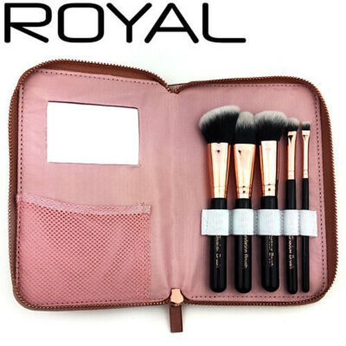 ROYAL COSMETIC CONNECTIONS - GLAMOUR COLLECTION ROSE GOLD 5 PIECE BRUSH SET x 1