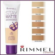 RIMMEL STAY MATTE LIQUID MOUSSE FOUNDATION - ASSORTED x 5