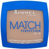 RIMMEL MATCH PERFECTION CREAM COMPACT FOUNDATION - 402 BRONZE x 5