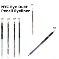 NYC EYELINER DUET PENCIL- ASSORTED SHADES x 10