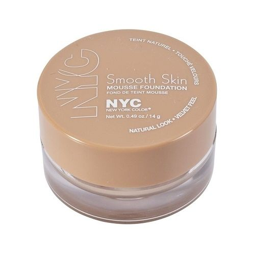 NYC SMOOTH SKIN MOUSSE FOUNDATION 703 SAND BEIGE TESTER x 3