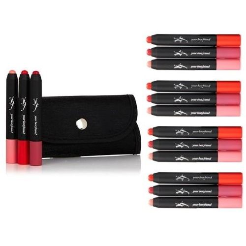 YBF BLOOMIN CRAYON TRIO LIP BALM in TRIFOLD POUCH