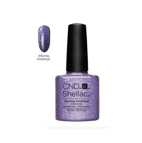 CND SHELLAC 14+ DAY NAIL COLOR COAT ALLURING AMETHYST x 1