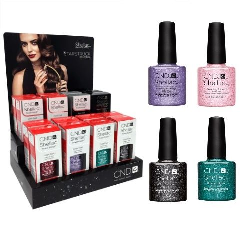 CND SHELLAC POWER POLISH STARSTRUCK COLLECTION 16 PIECE DISPLAY x 1