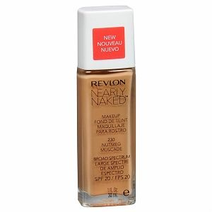 REVLON NEARLY NAKED FOUNDATION - 230 NUTMEG x 2