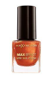MAX FACTOR MAX EFFECT MINI NAIL POLISH - DEEP CORAL x 3