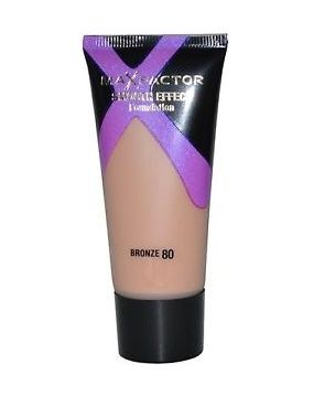 MAX FACTOR SMOOTH EFFECT FOUNDATION - 80 BRONZE x 3
