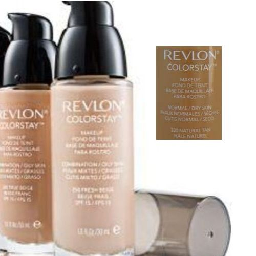 REVLON COLORSTAY 24 HRS MAKEUP FOUNDATION WITH PUMP NORMAL DRY SKIN - 330 NATURAL TAN x 1