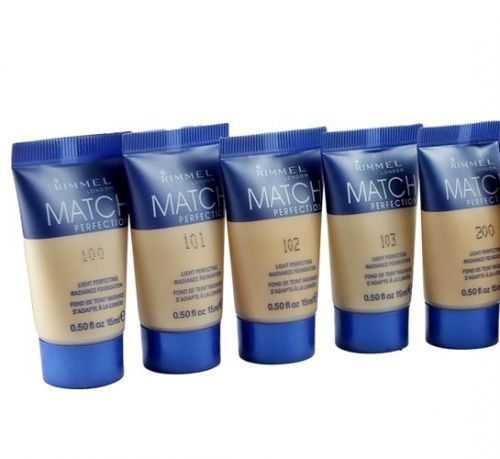 RIMMEL MATCH PERFECTION FOUNDATION TESTERS - ASSORTED x 6