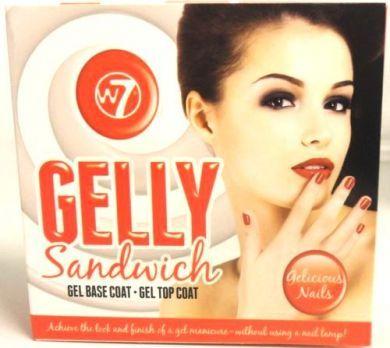 W7 GELLY SANDWICH GEL BASE COAT & GEL TOP COAT x 1