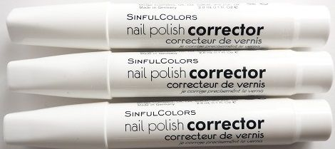 SINFUL COLORS NAIL POLISH CORRECTOR PEN x 6