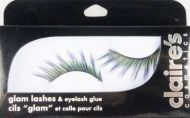 CLAIRE'S COSMETICS GLAM LASHES - PURPLE GREEN x 3