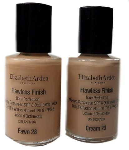 ELIZABETH ARDEN FLAWLESS FINISH  - UNUSED TESTER x 2
