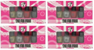 W7 THE FAB FOUR NAIL ENAMEL SETS x 4