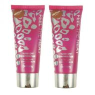 FAMOUS FEEL THE HEAT WASH OFF SHIMMER TAN - MEDIUM  x 3