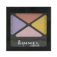 RIMMEL GLAM EYES QUAD EYESHADOW - 025 SUMMER BLOOM  x 3