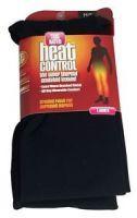 HEAT CONTROL LADIES SUPER THERMAL INSULATED LEGGINS - BLACK S M x 1