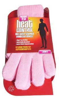 HEAT CONTROL LADIES THERMAL INSULATED GLOVES - LIGHT PINK x 1