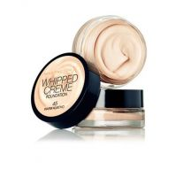MAX FACTOR WHIPPED CREME FOUNDATION - 45 WARM ALMOND x 3