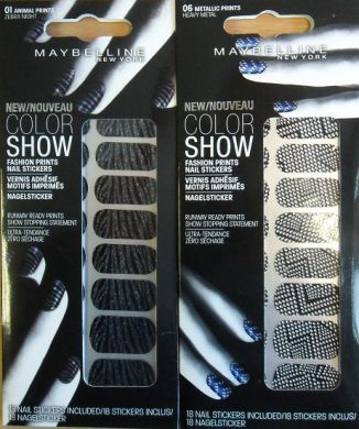 MAYBELLINE COLOR SHOW FASHION NAIL STICKERS x 6