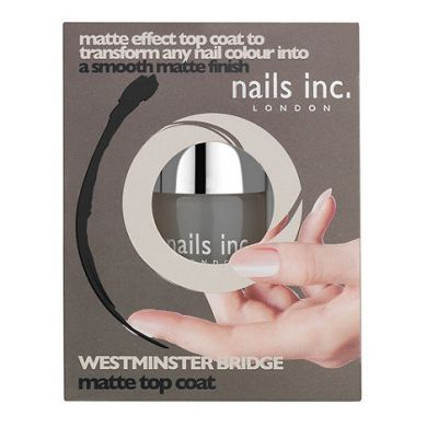 NAILS INC WESTMINSTER BRIDGE MATTE EFFECT TOP COAT x 3
