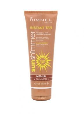 RIMMEL SUN SHIMMER INSTANT TAN FOR BODY AND FACE - MEDIUM SHIMMER x 1