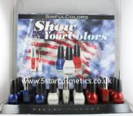 SINFUL COLORS NAIL POLISH - SHOW YOUR COLORS NAIL ART PAINT x 27