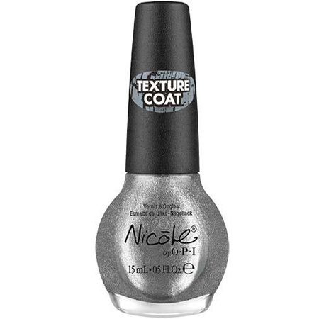 OPI NICOLE NAIL LACQUER TEXTURE COAT - SILVER TEXTURE x 2