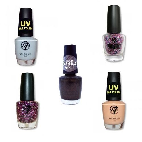 W7 SPECIAL EFFECTS NAIL POLISH - ASSORTED x 6
