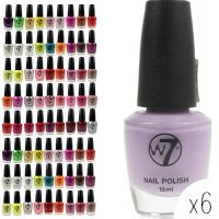 W7 NAIL POLISH - ASSORTED x 6