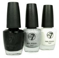 W7 LIMITED EDITION CRACKLE NAILPOLISH - BLACK x 6
