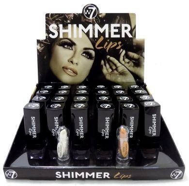 W7 SHIMMER LIP LIPSTICKS x 24