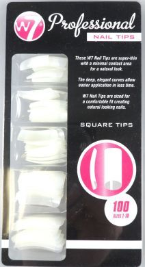 W7 PROFESSIONAL NAIL TIPS x 6