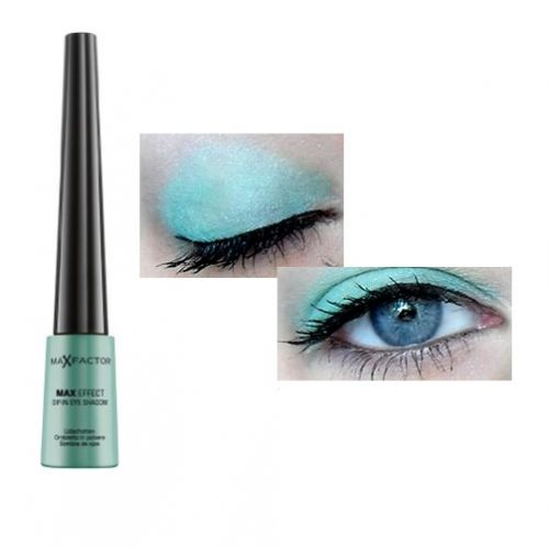 MAX FACTOR MAX EFFECT DIP IN LOOSE EYESHADOW - 07 VIBRANT TURQUOISE x 3