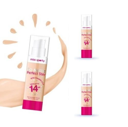 MISS SPORTY SO MATTE 14H PERFECT STAY FOUNDATION x 12