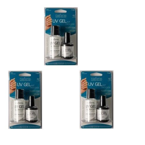NAILENE DESIGNER COLLECTION UV GEL KIT TROUSSE x 3