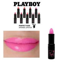 PLAYBOY PERFECT KISS INTENSE LIPSTICK - PEONY PINK x 3