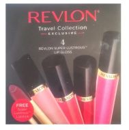 REVLON SUPER LUSTROUS LIPGLOSS 4-pack + 1 Free Lipstick  x 1