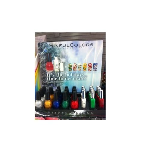 SINFUL COLORS NAIL POLISH - ITS THE HOLIDAYS...TIME TO DECORATE  x 24