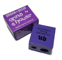 URBAN DECAY GRIND HOUSE DOUBLE BARREL SHARPENER PURPLE BOXED x 1