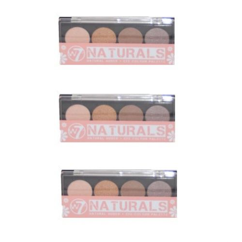 W7 NATURALS NATURAL NUDE EYE COLOUR PALETTE x 6